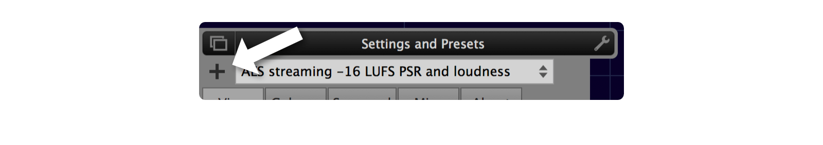 Preset save button